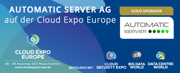 AUTOMATIC SERVER AG auf der Cloud Expo Europe